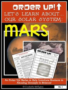 This set of ORDER UP! Let's Learn About. focuses on our solar system's fourth planet: Mars! Solar System Planets, New School Bags, The New School, Shape Books, 21st Century Learning, Instructional Coaching, Book Organization, Class Activities