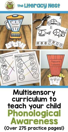 This phonological awareness resource contains a wide variety of multisensory activities to teach phonological awareness with a special emphasis on phonemic awareness. Click here to shop! The Literacy Nest #theliteracynest #teacherspayteachers #tpt #phonologicalawareness #multisensoryactivities Phonics Activities, Kindergarten Activities, Phonological Awareness Activities, Reading Intervention, Reading Fluency, Teaching Reading, Preschool Special Education, Teaching Techniques, Curriculum