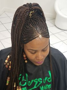 Black Girl Braids, Braids For Black Women, Braids For Black Hair, Girls Braids, Big Hair, Feed In Braids Hairstyles, African Hairstyles, Summer Hairstyles, Pretty Hairstyles