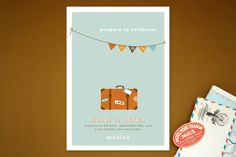 Prepare to Celebrate Save the Date Cards by Jana Volfova at minted.com