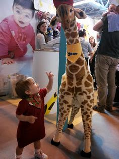 giraffe at the baby show, everything for pregnancy and beyond http://thisdayilove.blogspot.co.uk/2013/05/a-good-family-day-out-at-baby-show.html