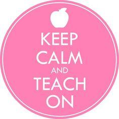 FREE Keep Calm and Teach On Clip Art