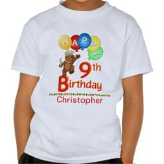 9th Birthday Regal Teddy Beary Custom Name Shirts