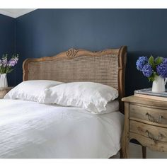 Buy the beautifully designed Chateauneuf Rattan Bed, by The French Bedroom Company. French Country Bedding, French Country Bedrooms, French Country Decorating, Rattan Headboard, Rattan Bed Frame, Design Presentation, Muebles Shabby Chic, Furniture Styles, Furniture Design