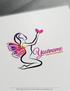 Create Beauty logo ideas instantly using Butterfly Lady Logo Template#beautylogo #Fashionablelogo  #fashionlogo #fashionlogos #nailartistlogo #makeuplogo #ogodesign #logomaker #logoidea #eyelasheslogo #jewelrylogo
