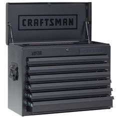 Craftsman 26 in Wide 6 Drawer Heavy Duty Top Chest, Flat Black - Tools - Tool Storage - Top Chest