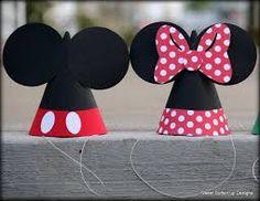 Resultado de imagen para como hacer un gorro de cumpleaños de mickey mouse