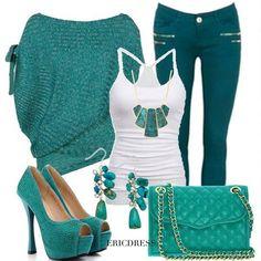 Resultado de imagen para ropa color verde turquesa