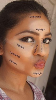Correctly contour and highlight #minklashes