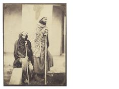PAKISTAN - ETHNOGRAPHIC Photographic study of two Multan natives, 1860s