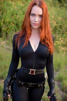 Nichameleon as Black Widow,so hot. #blackwidowcosplay #marvel #cosplaygirl #cosplayclass #costume