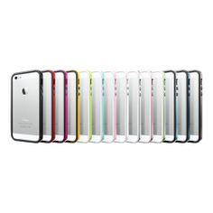 La carcasa Neo Hybrid EX para el iPhone 5 es de tipo Bumper. Es decir, está diseñada especialmente para proteger los bordes del teléfono. Está compuesta de silicona, para el interior; mientras que la parte exterior está fabricada en policarbonato. Colores disponibles: Negro, verde, amarillo, rosado, rojo, azul, fucsia y verde menta.