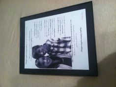 Picture with song lyrics.. DIY boyfriend gift