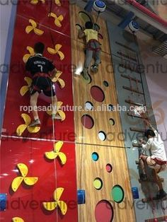 indoor playground climbing wall for kids and adults