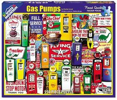 Gas Pumps - 550 Piece Jigsaw Puzzle