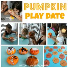 Pumpkin Play Date Activities from Coffee Cups and Crayons