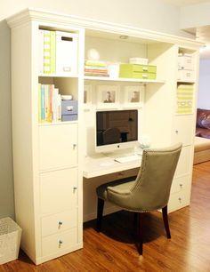 Crear un espacio para trabajar confortable en el que concentrarse con todo a mano. Ésta es la idea que proponen desde I Heart Organizing.
