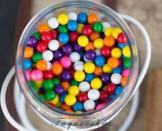 Love this photo of a wedding ring! Love Is Blind Engagement Photo Shoot via Kara's Party Ideas #weddingring #gumballs