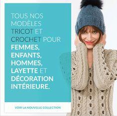 Modèles tricot : catalogues et magazines pour tricot et crochet Knit Crochet, Crochet Hats, Pulls, Wool, Points, Knitting, Magazines, Fashion, Picasa
