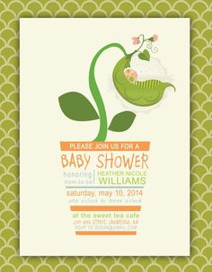 Sweet Pea Baby Shower Peas In A Pod Printable By PaperandPomp