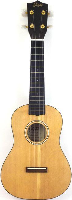My 1980's Goya spruce and rosewood Concert Ukulele --- https://www.pinterest.com/lardyfatboy/