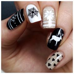Christmas/winter nails by lieve91 on Instagram