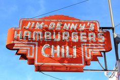 Jim-Denny's Sacramento, California vintage neon sign