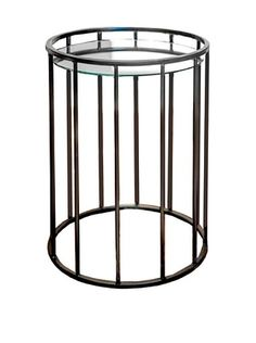 53% OFF Winward Dayton Iron & Glass Nesting Tables, Brown