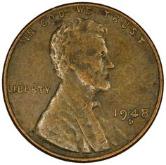 1948 Wheat Penny Values - See If You Have A Valuable 1948 Penny + Rare 1948 Wheat Pennies And 1948 Error Pennies You Should Look For Gold And Silver Prices, Gold And Silver Coins, Wheat Penny Value, Penny Values, Old Coins Value, Rare Pennies, Old Coins Worth Money, Wheat Pennies, Coin Store