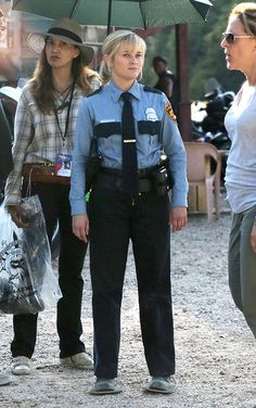 Reese Witherspoon on set Reese Witherspoon Plays a Police Officer in Don't Mess with Texas