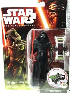 Star Wars The Force Awakens Kylo Ren 3.75 inch Action Figure New Star Wars  The Force Awakens  Kylo Ren 3.75 inch Action Figure  New, purchased for resale by KeywebcoVideo inspected when shippedShips Fast and Free from the USAThe item for sale is pictured and described on this page.The stock photo may include additional items for display purpose only - which will not be included.Packages may show wear or be opened if the battery is replaced or during the inspection…