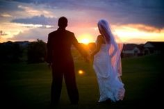 Beautiful wedding just before sunset at Heritage Eagle Bend Golf Club! Experience a once in lifetime moment with us! Weddings at Heritage Eagle Bend Golf Club in Aurora, Colorado.