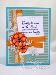 Card by Tricia using Joyful Blooms and Scripture Medley 1 from Verve.  #vervestamps