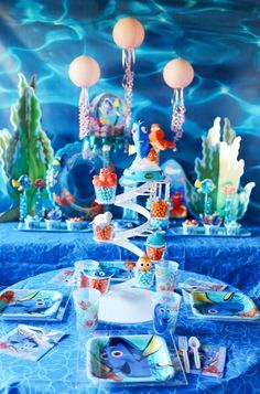 Decorations, Finding Dory Birthday Party Ideas | Pretty My Party