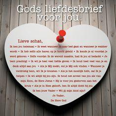 Kaart Gods liefdesbrief voor jou | Lifestyle | Kameel.nl | Christelijke boeken, films, muziek, gifts en meer!