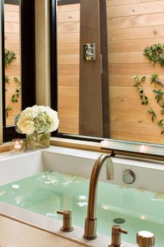 Steam Spa-Suites have dual shower/steam rooms, soaking tubs and gas fireplaces. Bardessono (Yountville, California) - Jetsetter