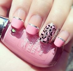 Baby Pink & Leopard Print Nails by Sally Hansen!