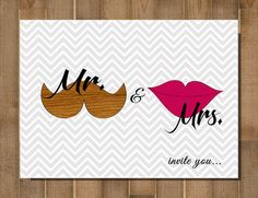Bridal Shower Note Wedding Note Mr and Mrs  by BlueMoonDesigns1, $13.00