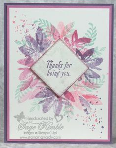 I went a little wild and crazy with the Avant Garden Stamp Set--which is FREE from Stampin' Up! during Sale-a-Bration!  Vist website for details.