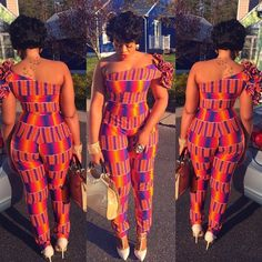 ankara stil Latest Ankara Jumpsuit To Try in October African Fashion Designers, African Print Fashion, Africa Fashion, African Fashion Dresses, African Prints, Ankara Fashion, African Outfits, African Clothes, Fashion Skirts