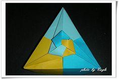 摺紙教學 三角紙盒 2 Triangle Box - Eagle 摺紙 - Yahoo!奇摩部落格