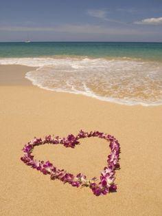 Heart Shaped Lei on Beach