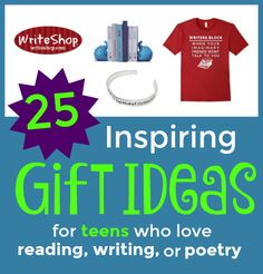 Gift guide | 25 inspiring gift ideas for teens who love reading, writing, or poetry