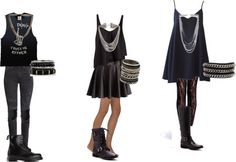 inspired all black outfits (school) by effy-stonem-style featuring a chain wrap…