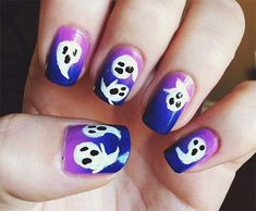 66 Best Halloween Ghost Nail Art Images On Pinterest In 2018