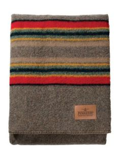 Pendleton Woolen Mills: YAKIMA CAMP BLANKET in Mineral with Initials