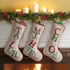 Gift Idea For kids  Festive Name Christmas Stocking   A Personal Creations Exclusive! During Christmastime, kids and adults will love seeing their name in dancing, prancing letters.  #Christmas #Christmas2016 #Xmas #ILoveXmas  #XmasIsComming #Xmaslet #Recipes #ChristmasDecoration #Christmastree #Christmassong #Gifts #ChristmasGifts  #ChristmasCountdown