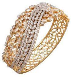 The Best elegant diamond bracelets! Diamond Bracelets, Gold Bangles, Bangle Bracelets, Necklaces, Bridal Jewelry, Gold Jewelry, Fine Jewelry, India Jewelry, Men's Jewellery