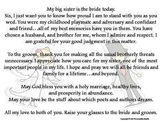 wedding speech for brother of groom