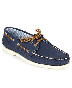 Sperry Top-Sider Shoes, A/O 2-Eye Canvas Boat Shoes - Shoes - Men - Macys